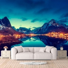 Photo wall murals Reine Islands Norway