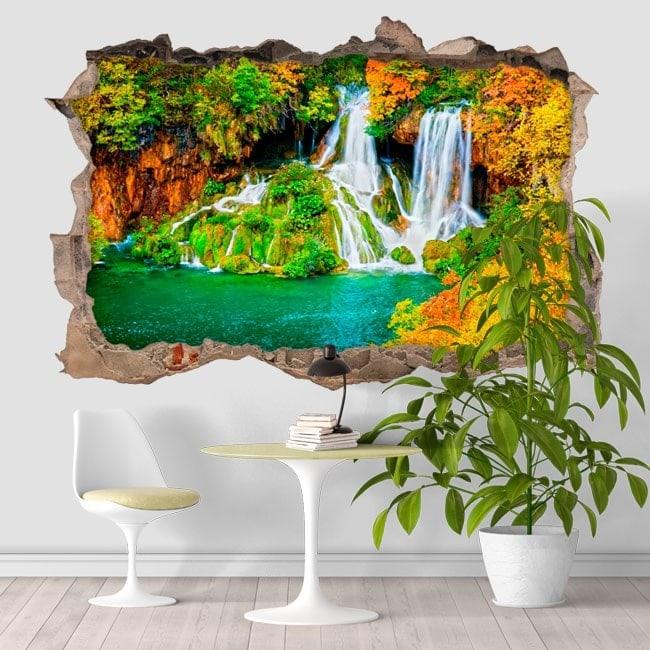 Vinyl 3D waterfalls nature