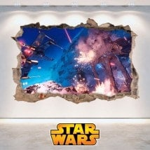 Wall vinyl Star Wars 3D