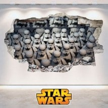 Stickers 3D Star Wars soldiers Clones