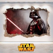 Vinyl Star Wars hole 3D wall