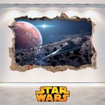 Vinyl walls Star Wars hole 3D