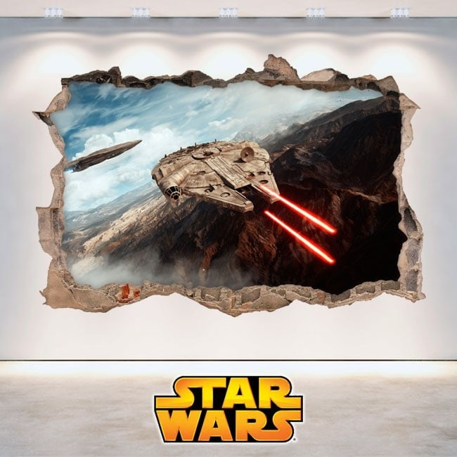 Decorative vinyl Star Wars 3D