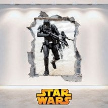 Star Wars wall stickers 3D English 5893