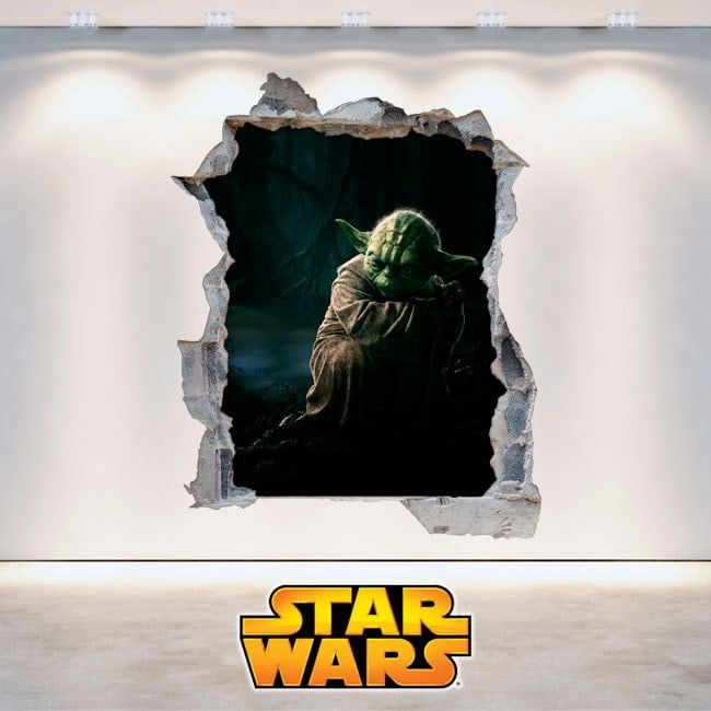 Wall vinyl Star Wars Yoda 3D