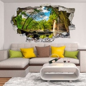 Vinyl decorative Cascades mountains 3D