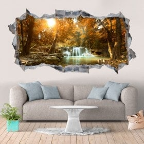 Vinyl decorative waterfalls and nature 3D