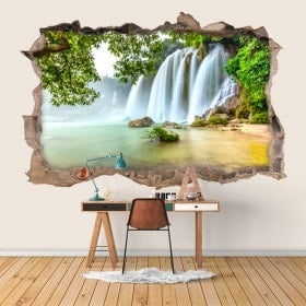 Vinyl wall waterfalls nature 3D