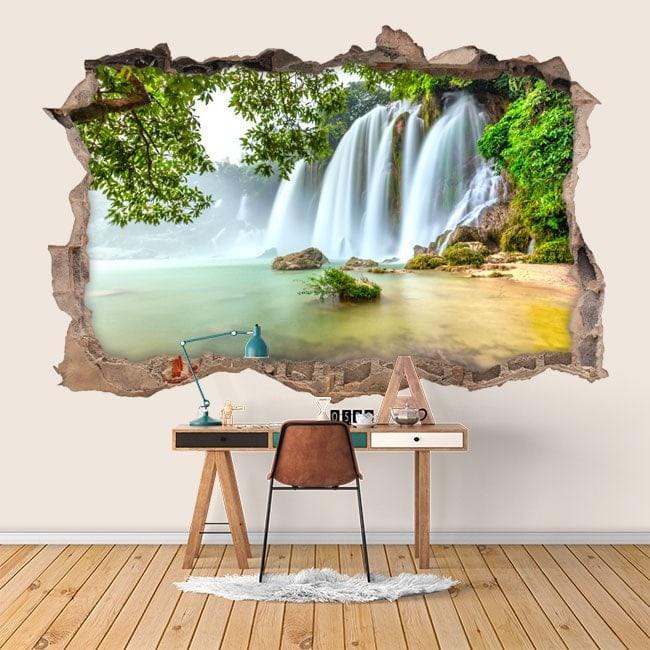 Vinyl wall waterfalls nature 3D