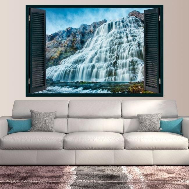 Windows in vinyl waterfalls nature