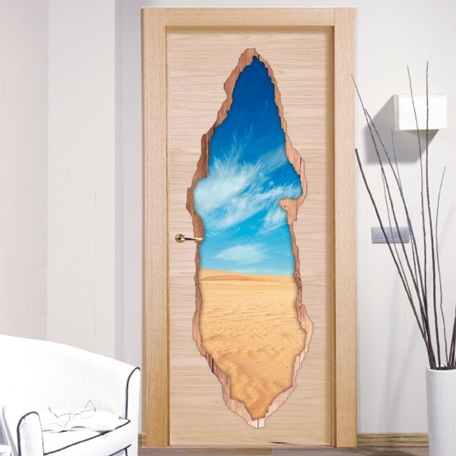 Vinyl doors desert 3D