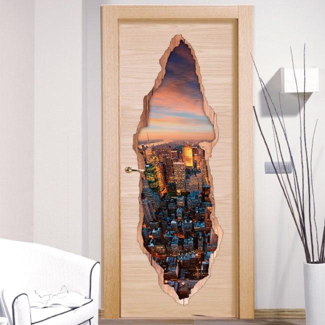 Vinyl doors New York 3D