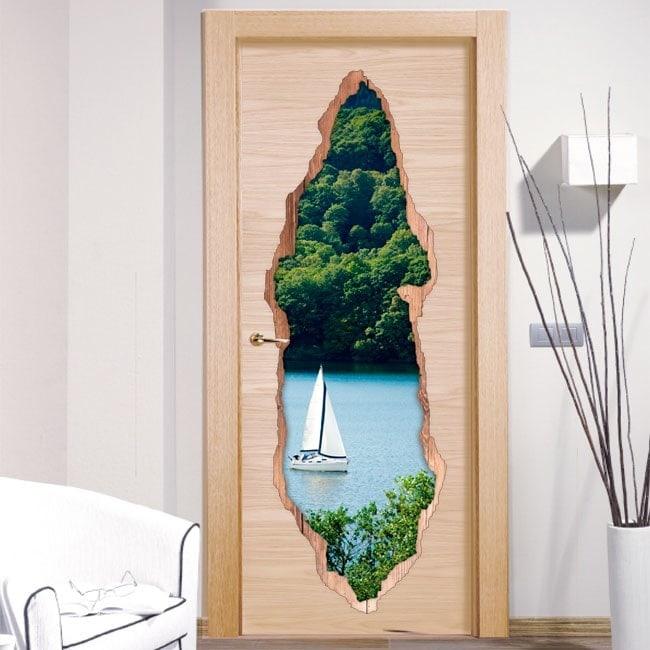 Sailing Lake 3D doors vinyl