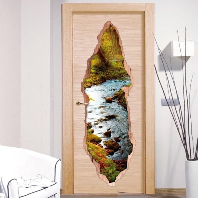 Vinyl doors Rivera in forest 3D