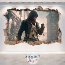 Decorative vinyl 3D Assassin's Creed Unity