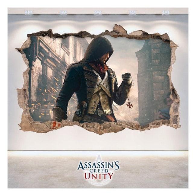 Decorative vinyl 3D Assassin's Creed Unity