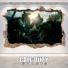 Decorative vinyl 3D Call Of Duty Ghosts