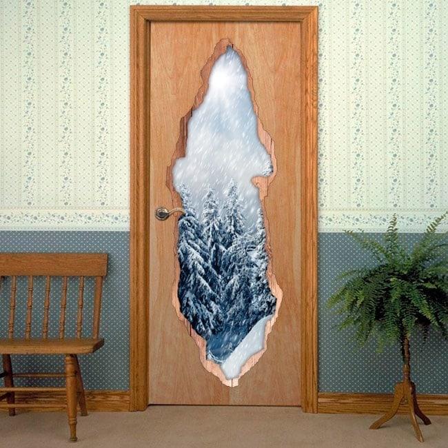 Vinyls for doors nature winter