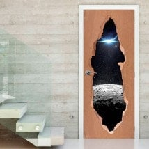 Vinyls for doors Moon Star and planet