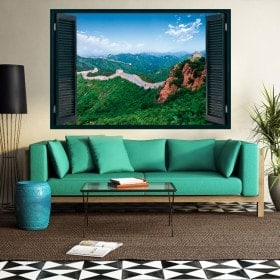 The great wall of China 3D Vinyl Windows