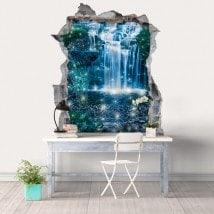 3D magical waterfalls decorative vinyl