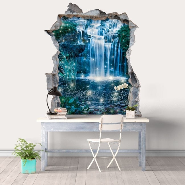 3D magical waterfalls decorative vinyl