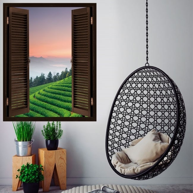 Windows in vinyl 3D plantation tea