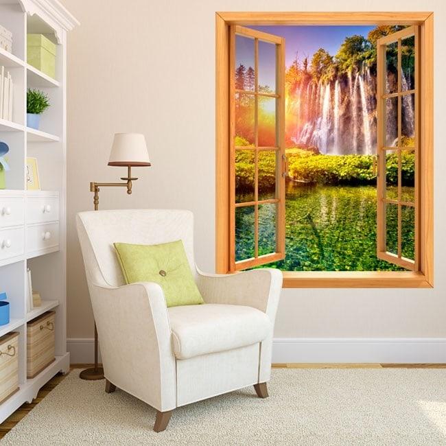Windows in vinyl sunset waterfalls