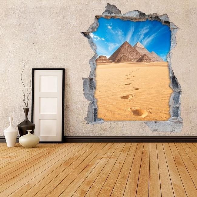 Vinyl wall 3D pyramids of Giza