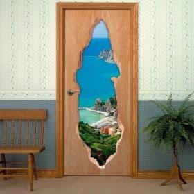 Vinyl doors 3D Monterosso al Mare