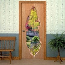 Vinyl doors 3D colors of nature