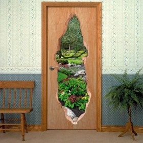 Vinyl doors 3D flowers in spring