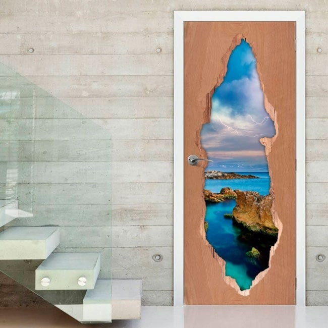 Vinyls for doors the 3D Sea Ray
