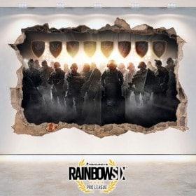Stickers 3D Tom Clancy's Rainbow Six Siege Pro League