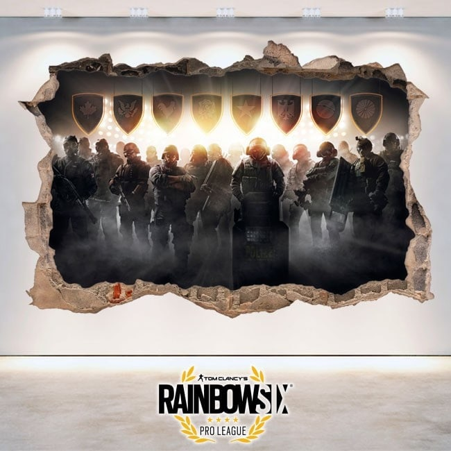Stickers 3D Tom Clancy's Rainbow Six Siege Pro League