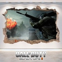 Call Of Duty Black Ops 3D decorative vinyl 2