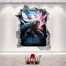 Decorative vinyl 3D Nioh
