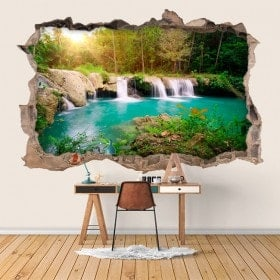 Vinyl wall waterfalls in nature