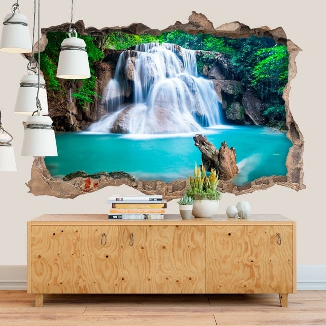 Decorative waterfalls Huay Mae Kamin 3D