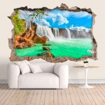 Vinyl wall waterfalls Dray Nur 3D