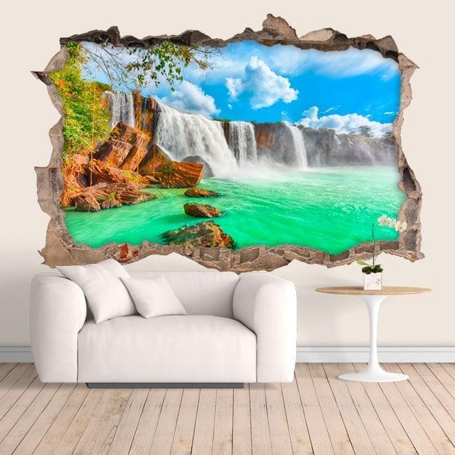 Vinyl wall waterfalls Dray Nur 3D