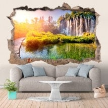 Vinyl wall waterfalls in Croatia 3D