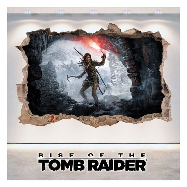 Rise Of The Tomb Raider 3D decorative vinyl