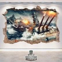 Decorative vinyl 3D World Of Warships