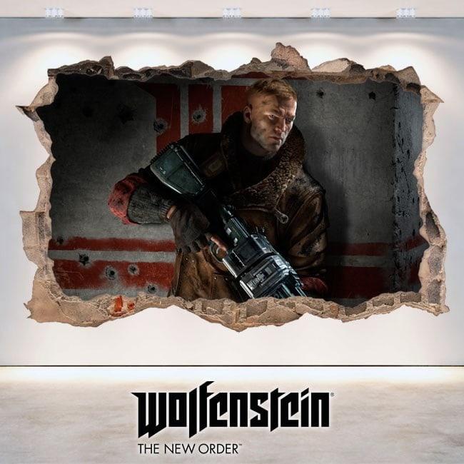 Wolfenstein The 3D decorative vinyl New Order