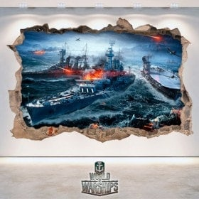 Vinyl and stickers 3D World Of Warships