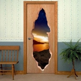 Vinyls for doors evening Magic 3D