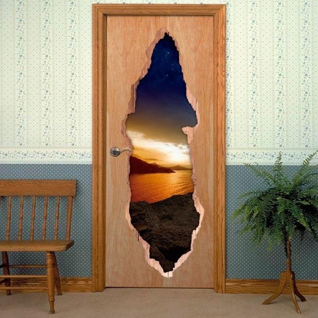 Vinyls for doors evening Magic 3D