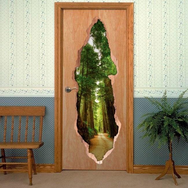 Vinyl doors National Park Redwood 3D