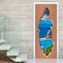 Vinyl door Liguria Italy 3D
